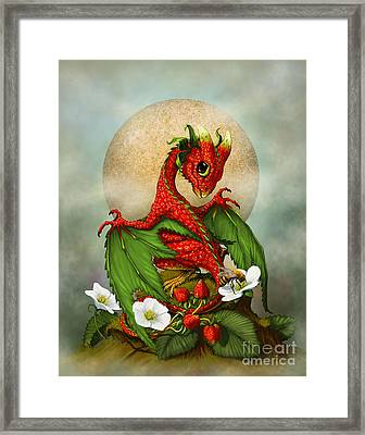 Strawberry Dragon Framed Print by Stanley Morrison