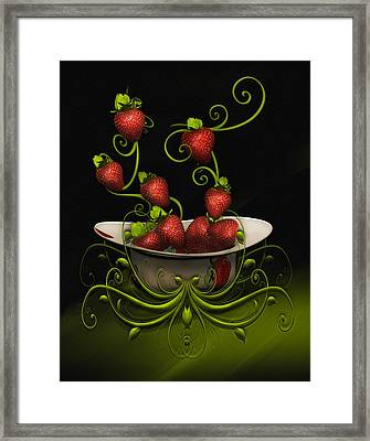 Strawberry Fancy Framed Print