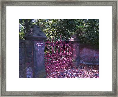 Strawberry Field Gates Framed Print by Steve Kearns