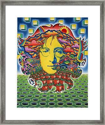 Strawberry Fields For Lennon Framed Print by Jeff Hopp