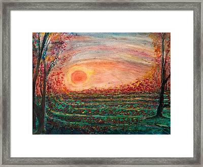 Strawberry Fields Forever Framed Print by Anais DelaVega