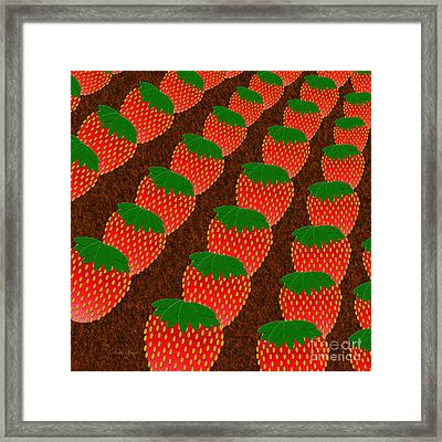 Strawberry Fields Forever Framed Print by Andee Design
