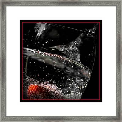 Strawberry Fizz Framed Print