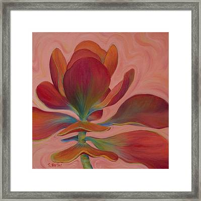 Framed Print featuring the painting Strawberry Flapjack by Sandi Whetzel