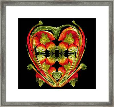 Strawberry Heart Framed Print by David Pantuso