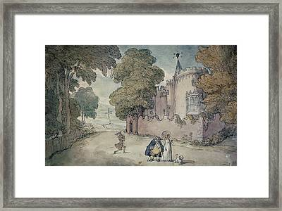 Strawberry Hill Hand Coloured Aquatint Framed Print by Thomas Rowlandson