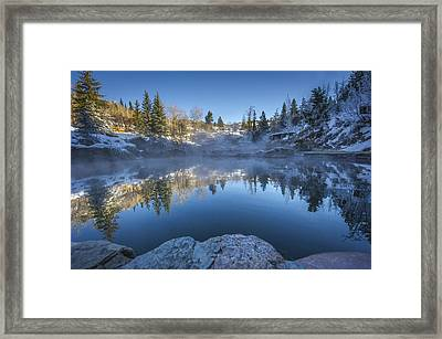 Strawberry Hot Springs Framed Print by Chelsea Stockton