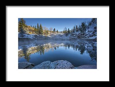 Hot Spring Framed Prints