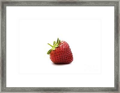 Strawberry II Framed Print by Natalie Kinnear