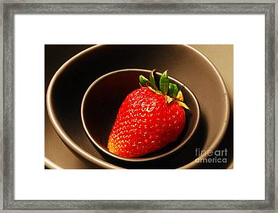 Strawberry In Nested Bowls Framed Print