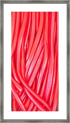 Strawberry Laces Framed Print