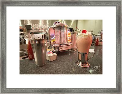 Strawberry Malt Shake  Framed Print by Rob Hawkins