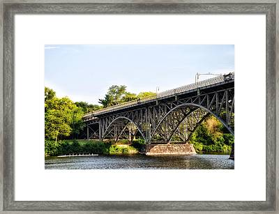 Strawberry Mansion Bridge And The Schuylkill River Framed Print