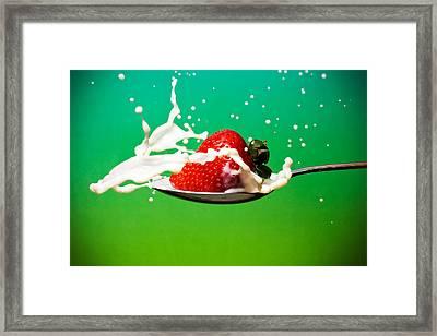 Strawberry Milk Framed Print