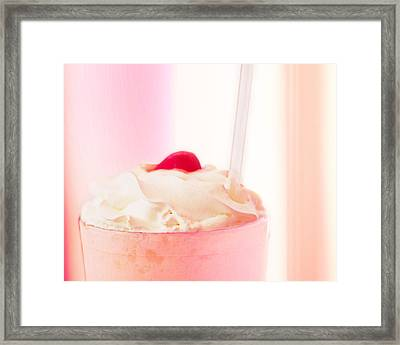 Strawberry Milkshake Framed Print