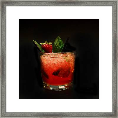 Strawberry Mojito Framed Print