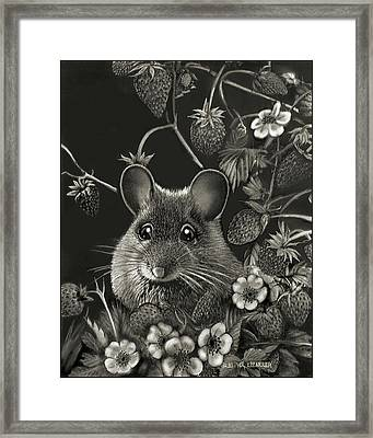 Strawberry Mouse Framed Print