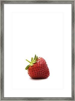 Strawberry Framed Print by Natalie Kinnear