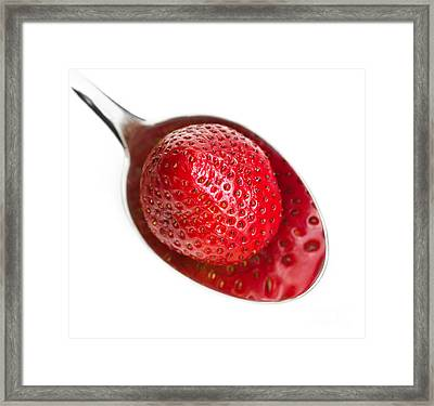Strawberry Puddle Framed Print