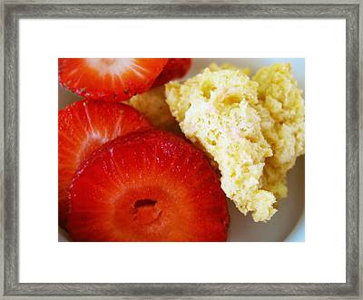 Strawberry Shortcake Tumble Framed Print by Ally Witt
