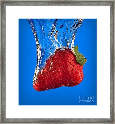 Strawberry Slam Dunk Framed Print by Susan Candelario
