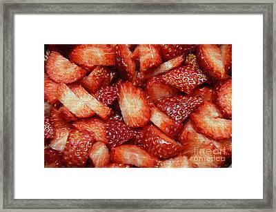 Strawberry Slices Framed Print