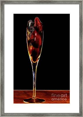Framed Print featuring the photograph Strawberry Sparkler by Shirley Mangini