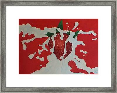 Strawberry Framed Print by Sven Fischer