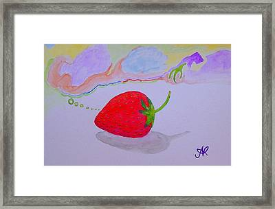 Strawberry Thoughts Framed Print
