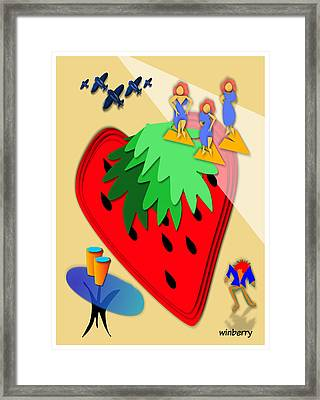 Strawberry Wars Framed Print by Bob Winberry