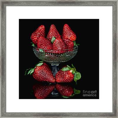 Strawberry Yum Framed Print