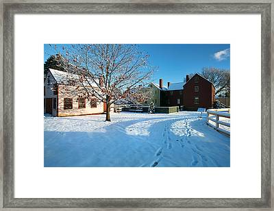 Strawbery Banke Snow Framed Print
