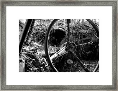 Strawmobile In Black And White Framed Print by Greg Mimbs
