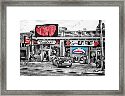 Strawn's Eat Shop Framed Print by Scott Pellegrin