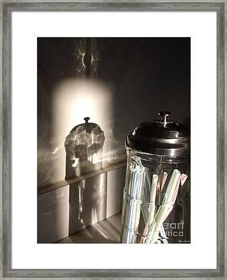 Straws Framed Print by Lyric Lucas