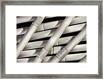 Straws Framed Print