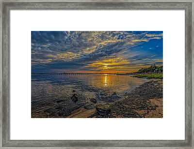 Streak Of Gold Framed Print