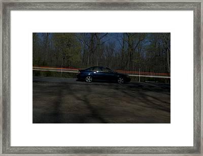 Streaked Framed Print by Ryan Crane