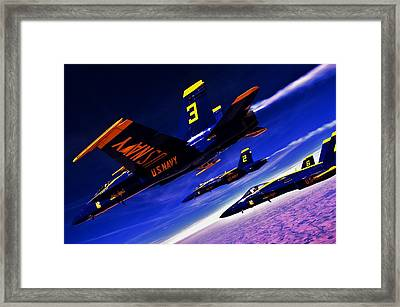 Streaking Blues Framed Print by Benjamin Yeager
