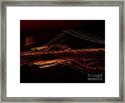 Streaks Across The Bridge Framed Print