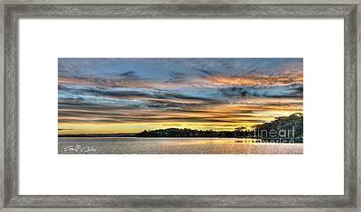 Streaky Sunset - Wangi Wangi Framed Print by Geoff Childs