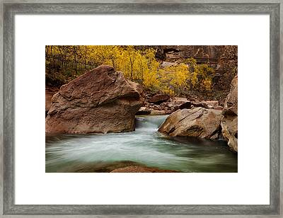 Stream At Autumn Framed Print by Andrew Soundarajan