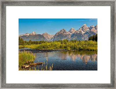 Stream At The Tetons Framed Print by Robert Bynum