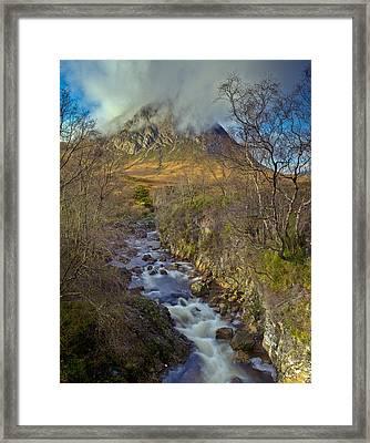 Stream Below Buachaille Etive Mor Framed Print by Gary Eason