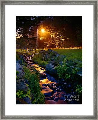 Stream By Streetlight Framed Print