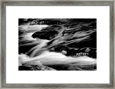 Stream In Bw Framed Print by Paul W Faust -  Impressions of Light