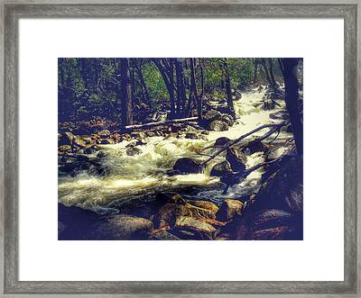 Stream Of Consciousness- Yosemite Framed Print by Laura Mazzuca