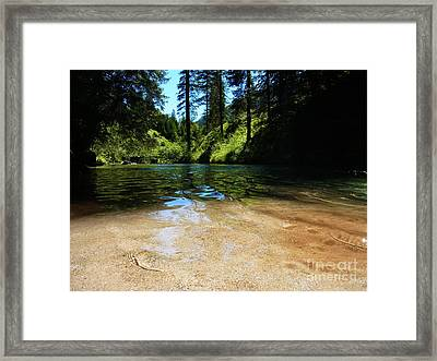 Stream Of Love Framed Print