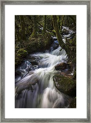 Framed Print featuring the photograph Stream On Eume River Galicia Spain by Pablo Avanzini