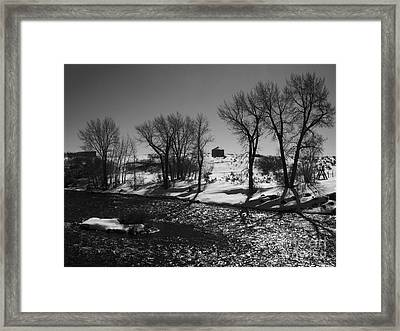 Stream Side Silo Framed Print by Janice Westerberg